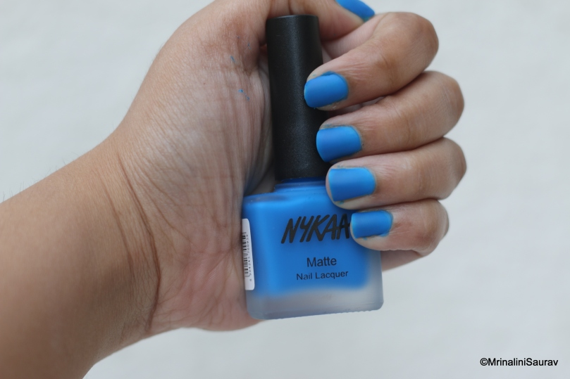 Nykaa Matte Nail Lacquer: Blueberry Sorbet – LipstickForLunch