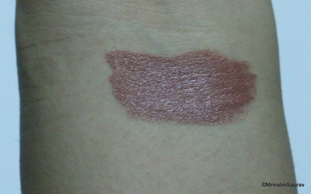 Nykaa So Matte Lipstick Taupe Thrill Arm Swatches