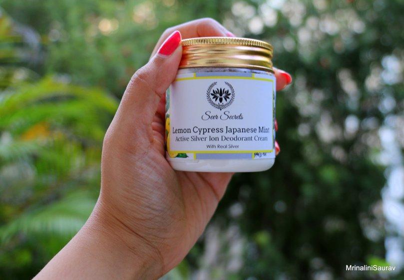 Seer Secrets Lemon Cypress Japanese Mint Active Silver Ion Deodorant Cream Review