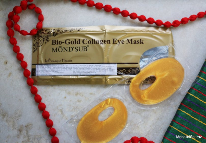 Mond'sub Bio-Gold Collagen Eye Mask Review Zobag