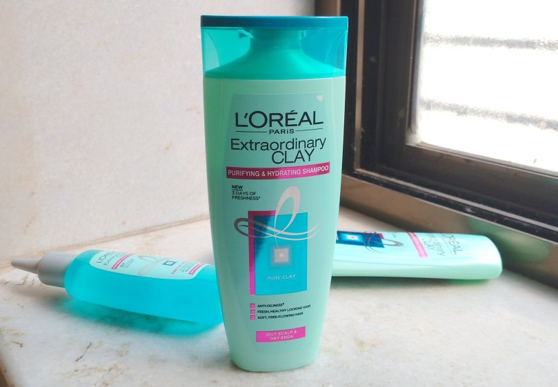 Loreal Paris Extraordinary Clay Shampoo, Conditioner and Scalp Refresher | Review