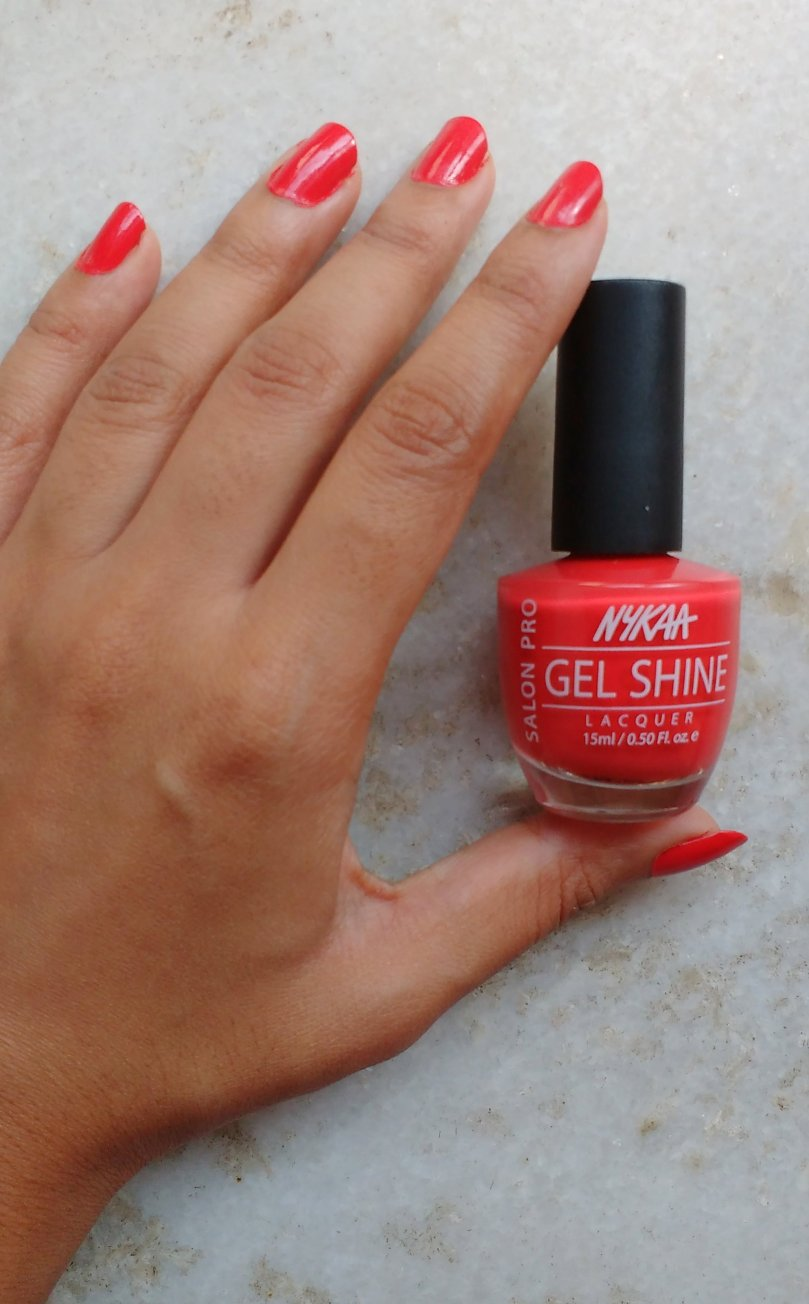 Nykaa Salon Shine Gel Nail Lacquer – Viva Mexico 201 | Review and ...