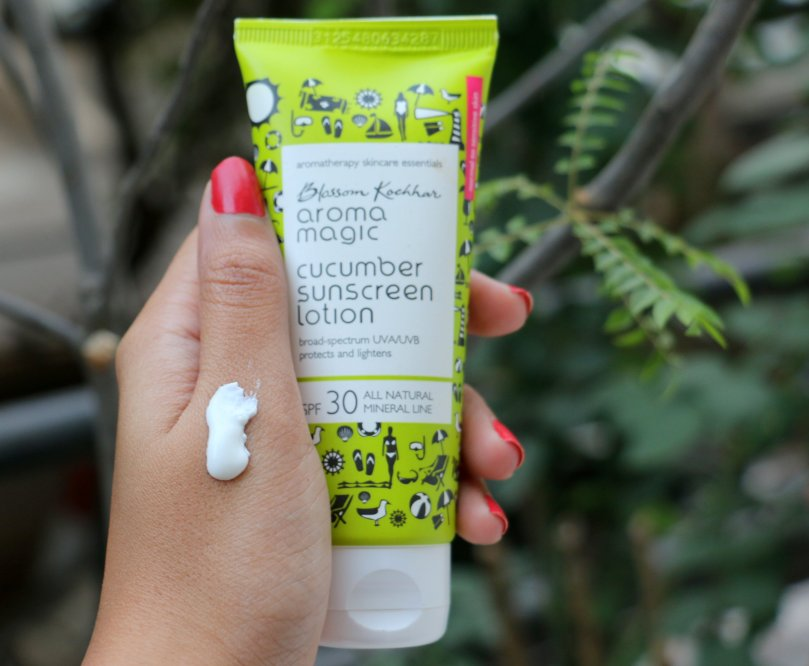 Blossom Kochhar Aroma Magic Cucumber Sunscreen Lotion | Review