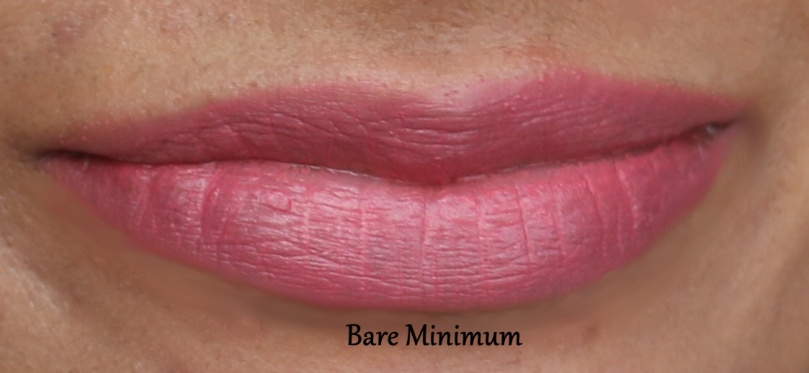 Nykaa So Matte Minis | Review and Swatches Bare Minimum