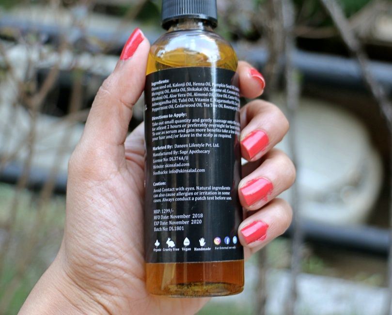 Skin Salad Onion Hair Oil |Review